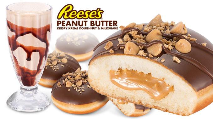Krispy-Kreme-Australia-Gets-Reese's-Peanut-Butter-Donut-And-Milkshake-678x381