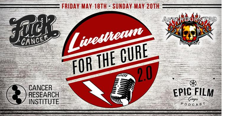 """Show #124 """"F*ck Cancer – Live Stream For The Cure"""" Afterburn 739 podcast"""